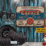 Personalized Auto Mechanic Garage Open When Customized Classic Metal Signs