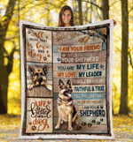 German Shepherd I Am your Friend Fleece Blanket