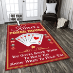 Personalized poker game room rug HPV02