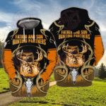 Father And Son Hunting Partners 3D All Over Printed Hoodie