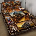 Steam Railroad Quilt Bed Set