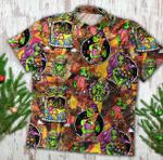 Funny Hippie Alien Hawaii Shirt