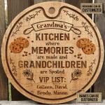 Personalized Baking Grandma Kitchen Spoiled Customized Wood Circle Sign