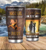 Daddy And Horse Girl Tumbler
