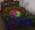 LGBT Love Is Love Bandana Pattern Quilt Bed Set
