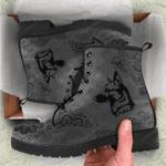 German Shepherd Mandala Leather Boots