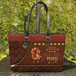 Dachshund Dogs Are My Favorite Peoples Leather Tote Bag