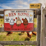 Personalized Chicken Hen House Nuggets Customized Classic Metal Signs