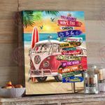 Summer Beach Canvas Print Camper Road Sign You Always Have The Choice