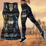 Wolf Native American 3D All Over Printed Combo Tank Top Legging