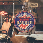 Personalized Barber Shop Haircut And Shaves Customized Wood Circle Sign
