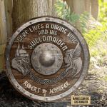 Personalized Viking King Shield Maiden Customized Wood Circle Sign