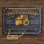 Personalized Photography Modern And Freelance Customized Classic Metal Signs