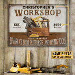 Personalized Carpenter Vintage Workshop Customized Classic Metal Signs