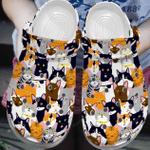 Cute Cat Pattern Crocband Clog
