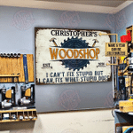 Personalized Carpenter Woodshop I Can Fix Customized Classic Metal Signs