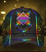 LGBT Pride Neon Pattern Classic Cap