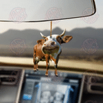 Cow Running Car Hanging Ornament