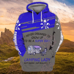 Camping Lady 3D All Over Printed Hoodie HPV03