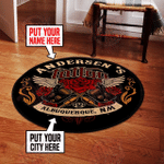 Personalized tattoo round rug HPV07