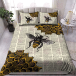 Bee Dictionary Page Bedding Set