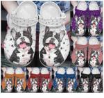 Smiley Boston Terrier Crocband Clog