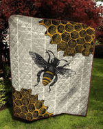 Bee Dictionary Page Quilt Blanket