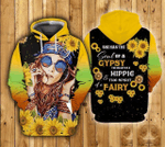 Hippie Girl 3D All Over Printed Shirt