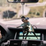 Bull Riding Car Hanging Ornament HPV01