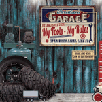 Personalized Auto Garage My Garage My Tools Customized Classic Metal Signs