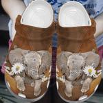 Cute Elephant With Daisy Crocband Clog