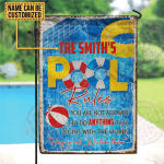 Personalized Swimming Pool Rule Hey Yall Watch This Customized Flag
