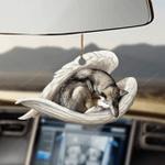 Wolfdog sleeping angel Wolfdog lovers Car Hanging Ornament