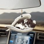 English Springer Spaniel sleeping angel English Springer Spaniel lovers dog lovers car hanging ornament