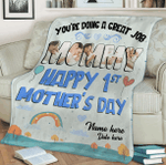 Custom Photo You're Doing A Great Job Mommy Fleece Blanket