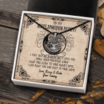 To My Shieldmaiden Mom Silver Viking Necklace Gift For Mom Mother From Daughter With Message Card And Gift Box
