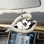 Cow sleeping angel cow lovers car hanging ornament