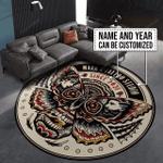 Personalized tattoo studio round rug HPV07