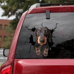 Dachshund Crack Car Sticker