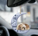 Shih tzu moon back shih tzu lover dog moms two sided ornament