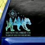Love Nature Bear Car Sticker