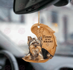 Yorkshire terrier forever in my heart car hanging two sided ornament