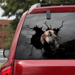 Great Dane Car Crack Sticker 02