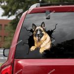 German Shepherd Car Crack Sticker 01