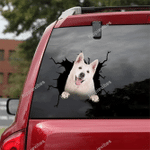 German Shepherd Car Crack Sticker 02