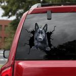 German Shepherd Car Crack Sticker 04
