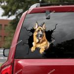 German Shepherd Car Crack Sticker 06