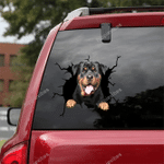 Rottweiler Crack Car Sticker 01