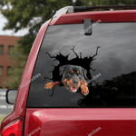 Rottweiler Crack Car Sticker 04