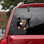 Rottweiler Crack Car Sticker 06